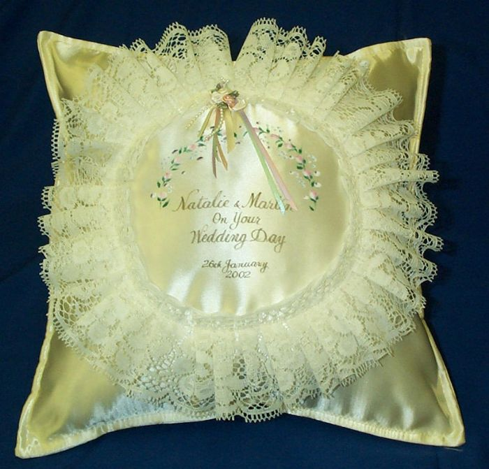 Frilly Circle Cushions Personalised Cushions Jean Robson