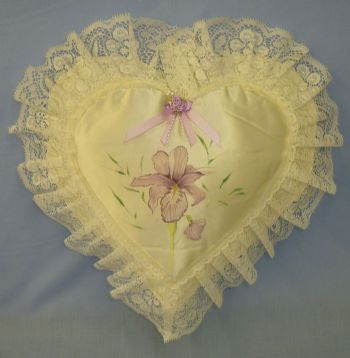Large Heart Cushion - Iris Design